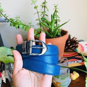 💙FIRM PRICE 💙Louis Vuitton Vintage Epi Blue Belt